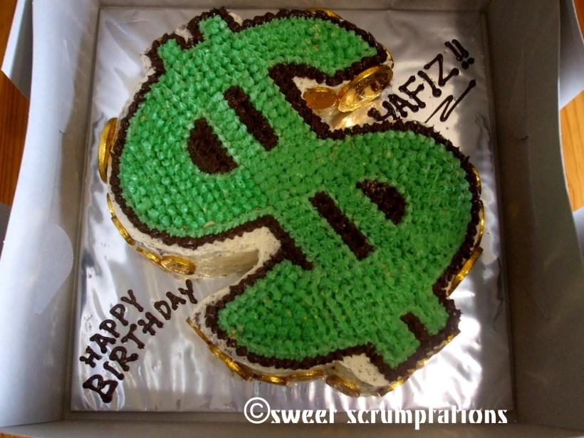 dollar bill birthday cake